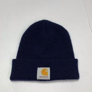 Carhartt | Navy Blue Logo Front Beanie Hat